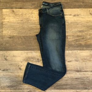 Eddie Bauer straight leg jeans in indigo blue